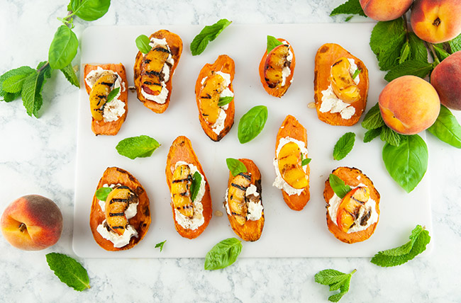 Peaches and Cream Sweet Potato Toast with Sweet PotaTOASTS from the makers of CAULIPOWER