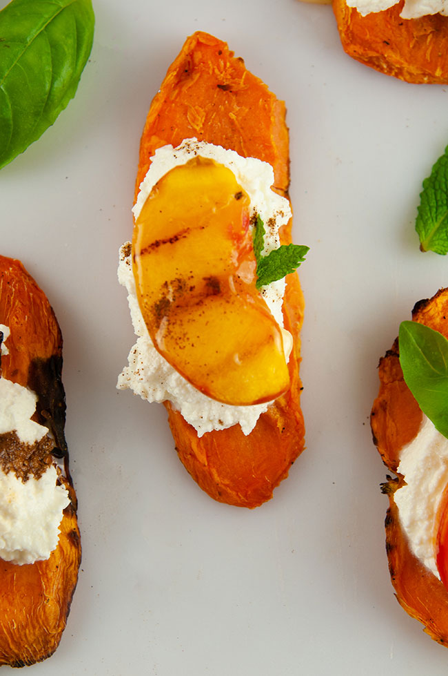 Sweet Peaches and Cream Sweet PotaTOASTS from the makers of CAULIPOWER