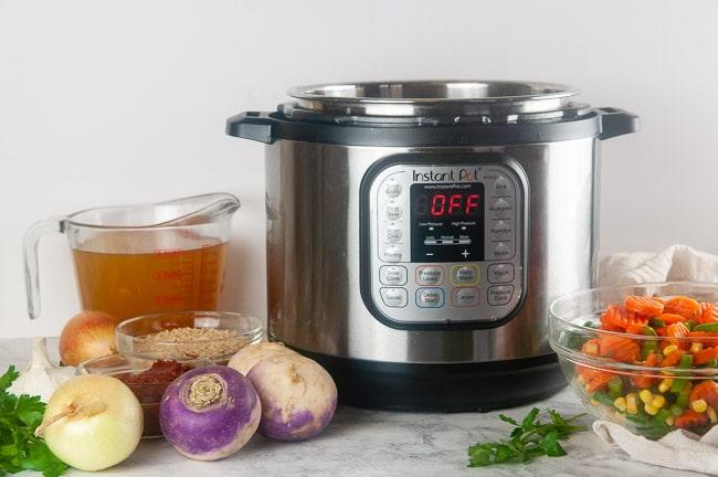 Ingredients for Instant Pot vegetable soup