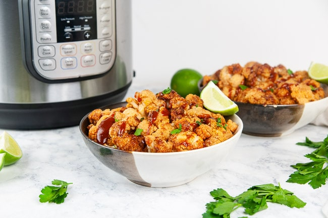 Instant Pot barbecue cauliflower is a flavor packed vegetarian bbq dish