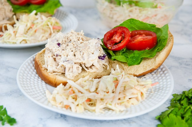Instant Pot Chicken Salad with Honey Mustard makes for delicious sandwiches