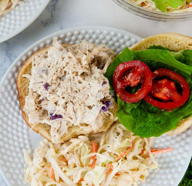 Instant Pot Chicken Salad with Honey Mustard