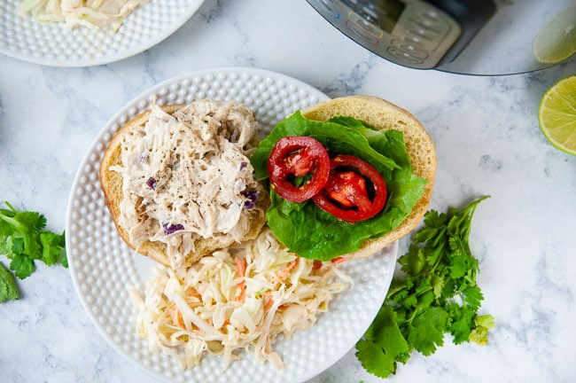 Instant Pot chicken salad with honey mustard is the best lunch.