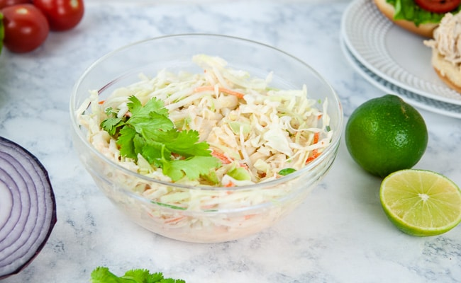 Sweet and Spicy Asian coleslaw