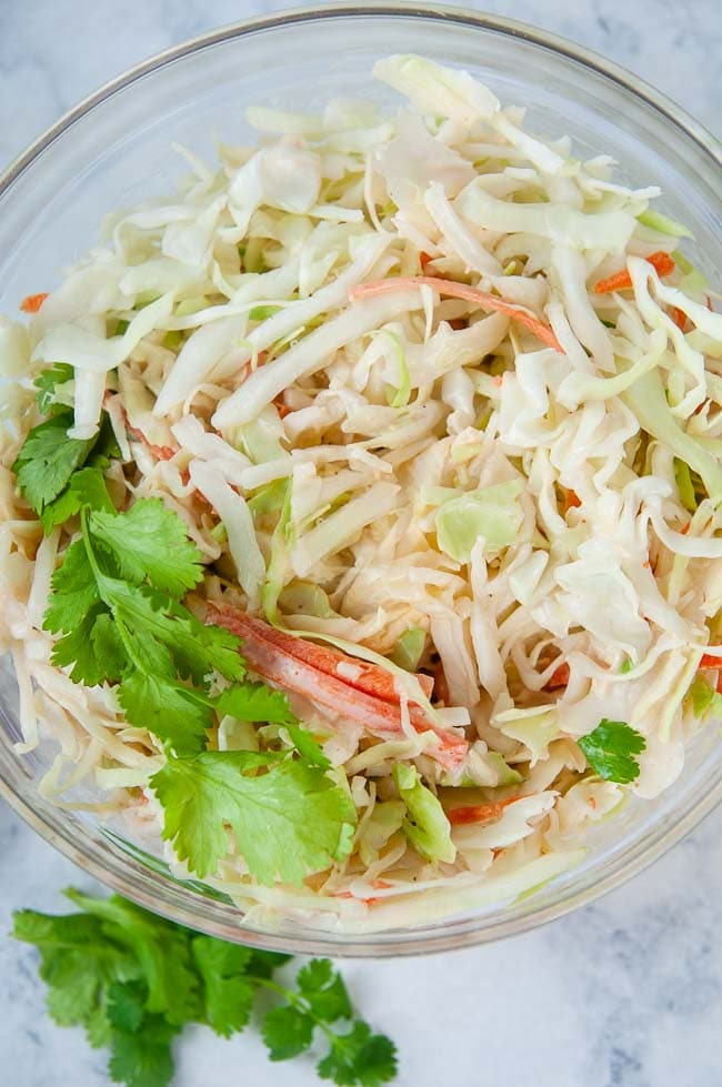 Sweet and Spicy Asian Coleslaw makes a delicious summer side dish