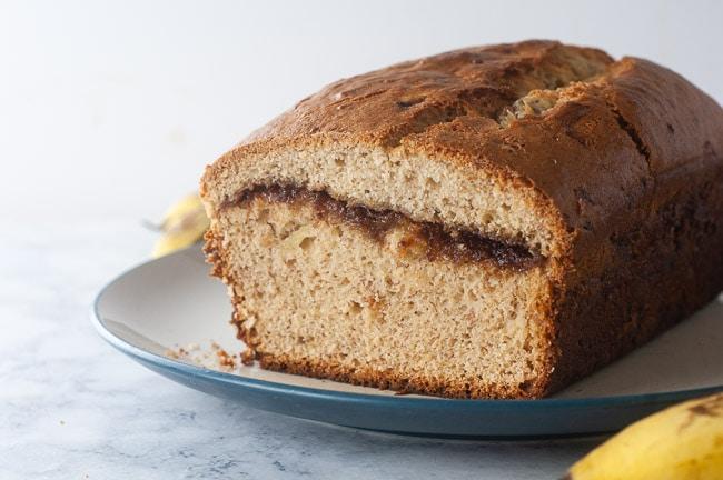 Cinnamon Swirl Banana Bread is the perfect quick bread breakfast