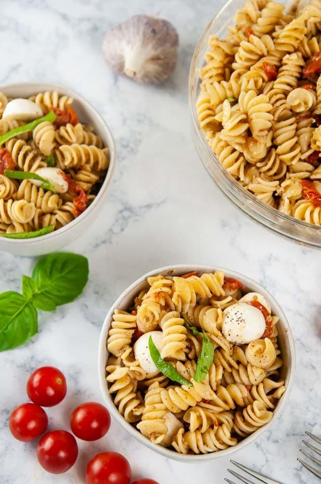 instant pot caprese pasta  seasoned sprinkles