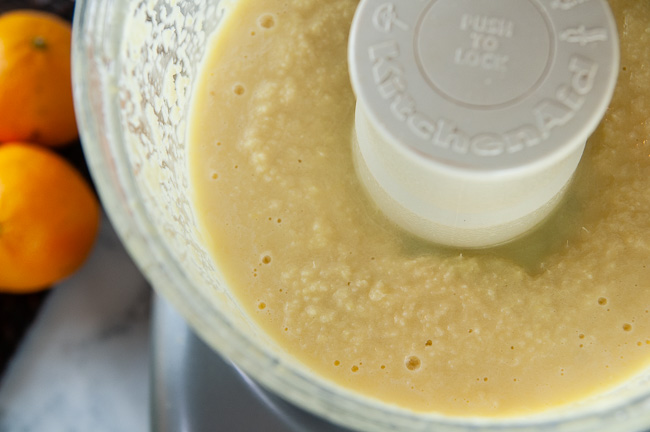 Orange ginger dressing will be creamy after a spin through the food processor