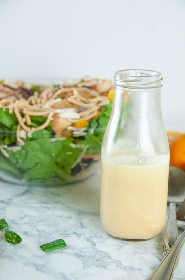Orange ginger dressing makes the perfect compliment to mandarin chicken salad and other Asian inspired salads.