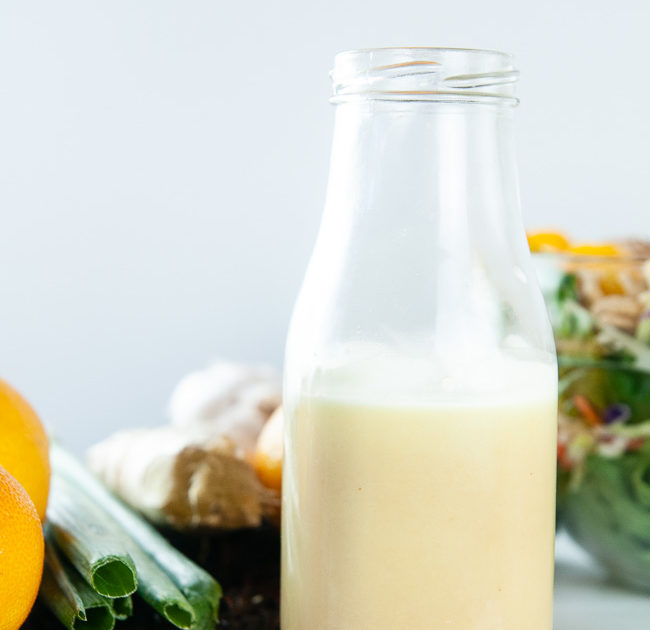 Orange ginger salad dressing makes the perfect compliment to mandarin chicken salad and other Asian inspired salads.