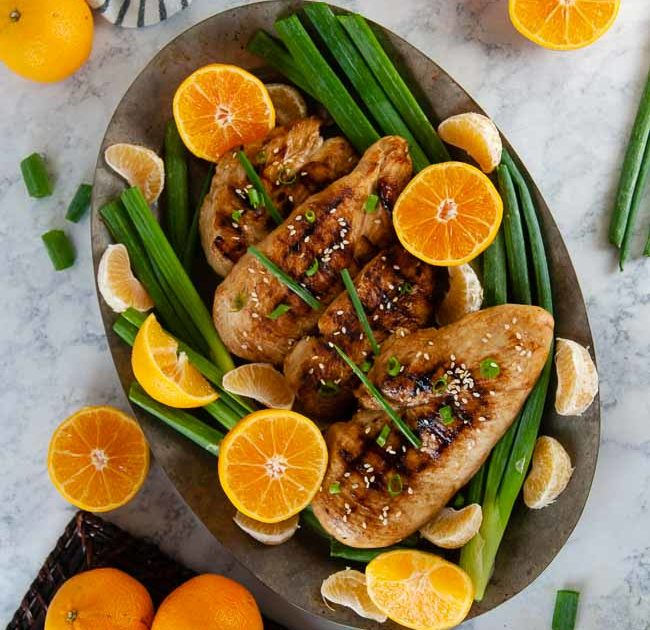 Orange ginger Asian chicken marinade is a delicious way to prepare chicken for meal prep, lunch, and dinner.