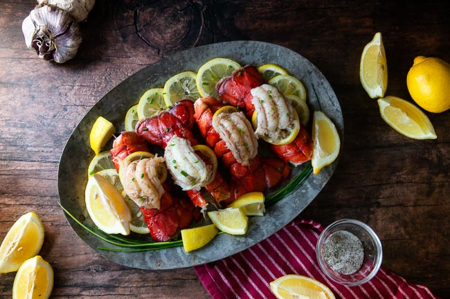 Beautifully cooked lobster tails are such a treat at home.