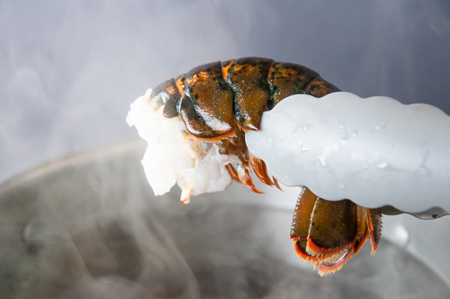 Bring the lwater to a boil and add the lobster