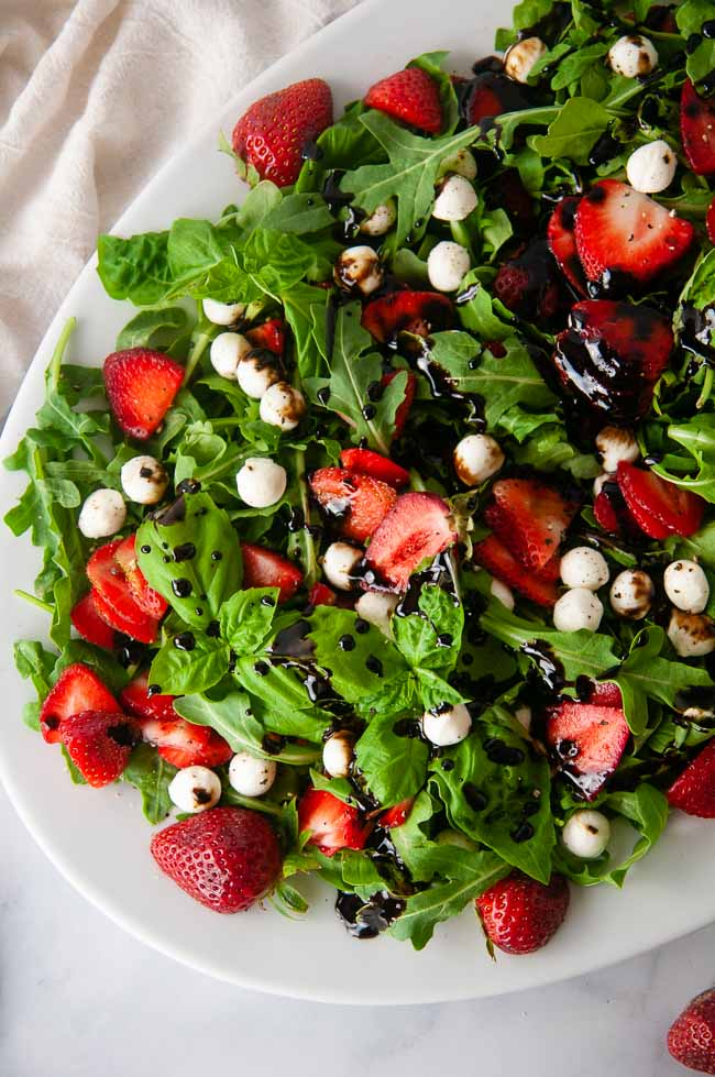 Strawberry Caprese Salad is the salad of summer.