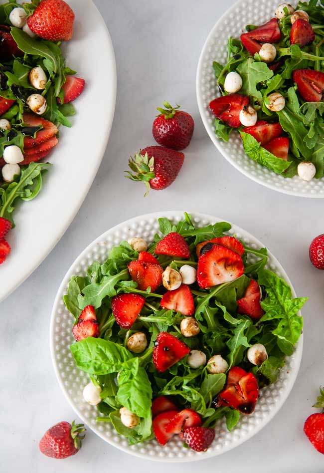 Strawberry Caprese Salad makes a delicious summer lunch.