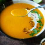 Make Thai Curried butternut squash soup quickly and easily in your Instant Pot!