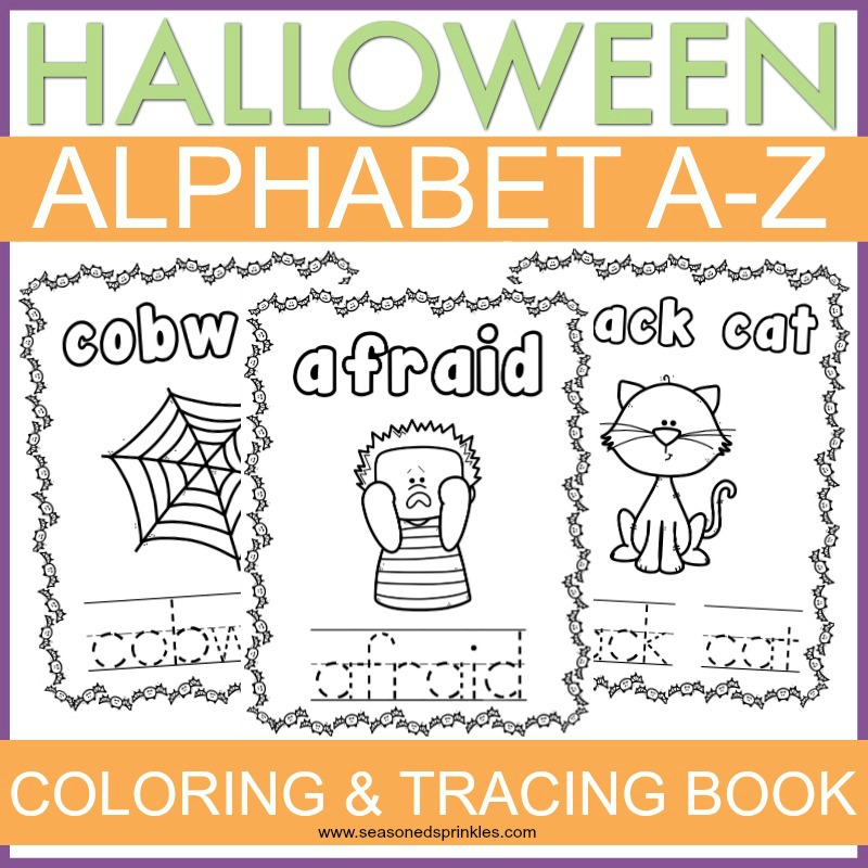 Halloween Alphabet Printable Tracing and Coloring Pages