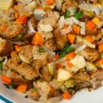 A dish of stuffing