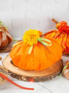 Easy No Sew Fabric Pumpkins