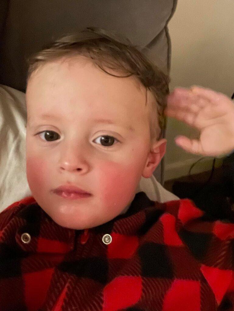grumpy toddler boy
