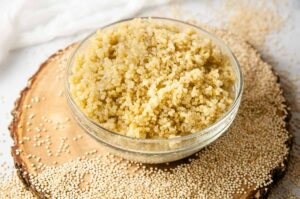The pressure cooker works well for cooking grains. A bowl of perfectly cooked quinoa is proof.