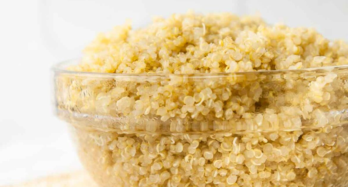 A bowl of perfectly cooked quinoa