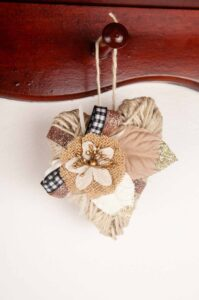 Hang these twine hearts from a shelf for some pretty rustic decor.