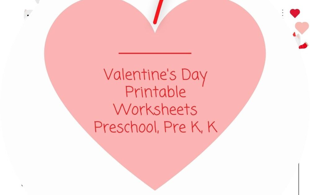 Valentine's Day puppy printables for kindergarten