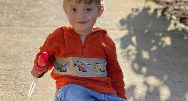Little boy outside