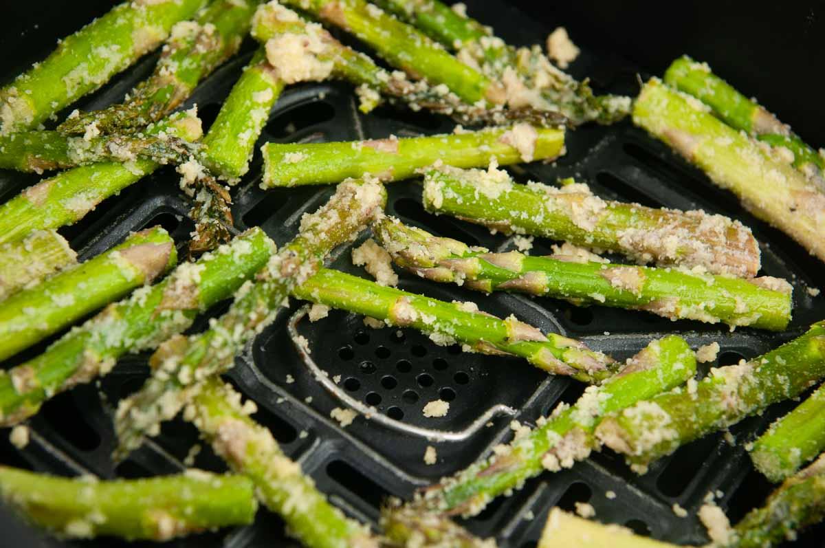Air fry the asparagus.
