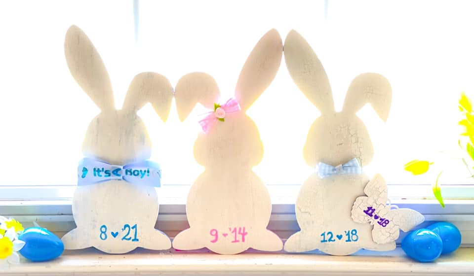 Easter baby announcement